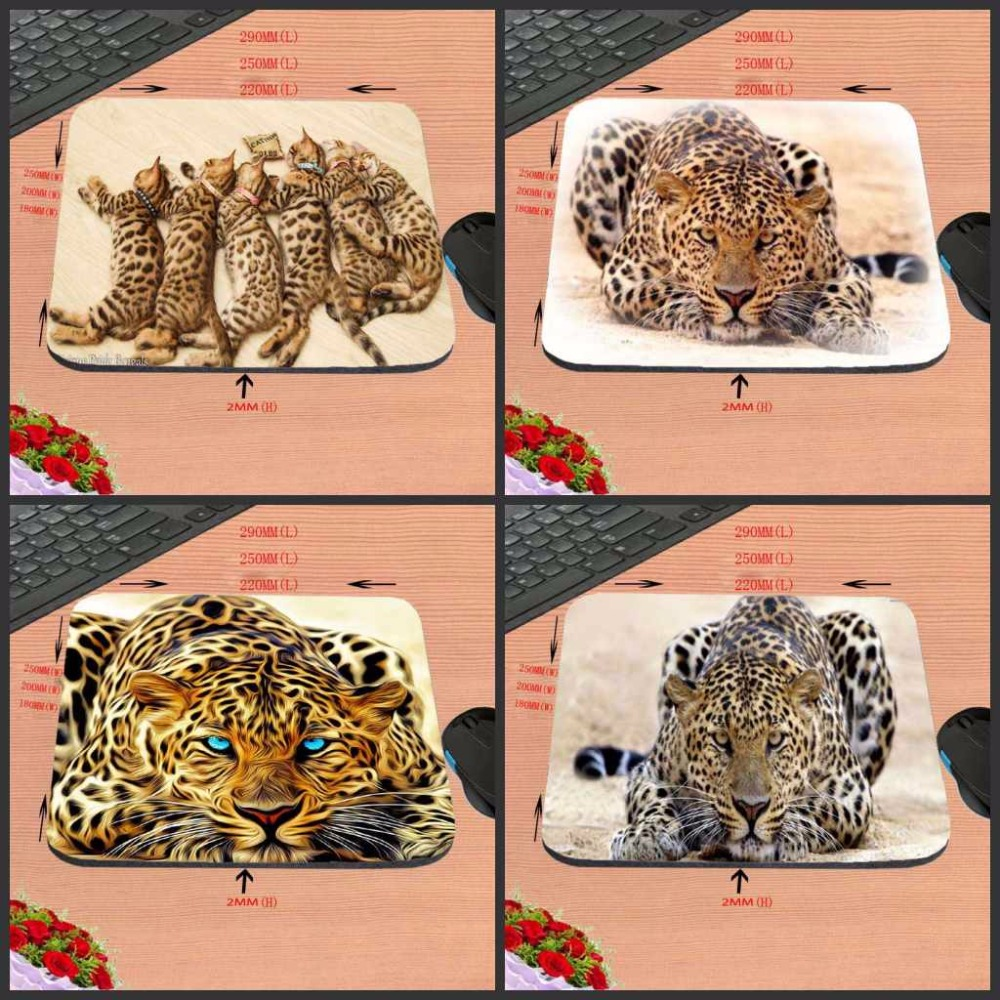 New Arrivals DIY Luxury print <font><b>One</b></font> <font><b>Piece</b></font> The Yellow Leopard Style Anti-Slip Laptop Animal <font><b>Mouse</b></font> <font><b>Pad</b></font> Mat for Optal Trackball image