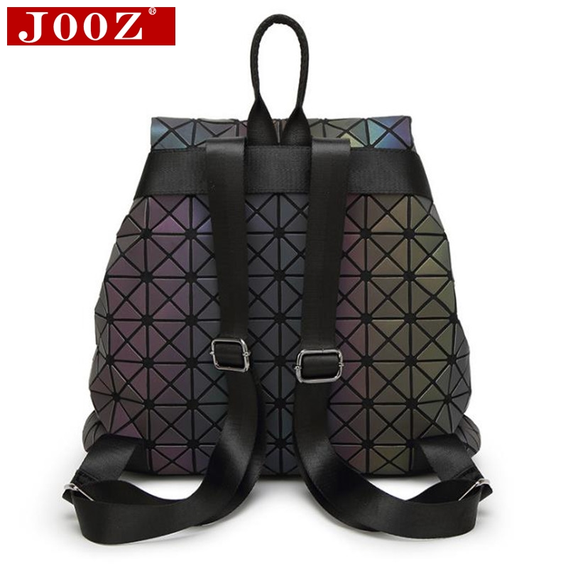 Jooz Luxury Luminous Women Backpacks Big Capacity Students Daypacks School Bags For Girl Fashion Bling Hologram Female Bagpack #4