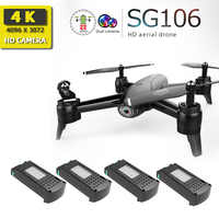 Sg106 drone avec caméra hd rc hélicoptère drone 4k jouets quadrirotor drohne quadrocopter helikopter droni télécommande