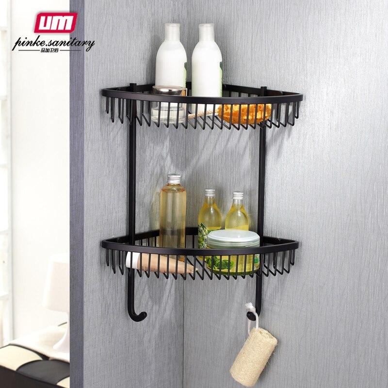 bolt inserting type metal dual tier limited promotion banyo bathroom triangle shelf corner