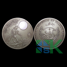 Newest Palau mythical creatures werewolf imitation antique coin, art round moon wolf replica coins,100pcs/1ot Free shipping