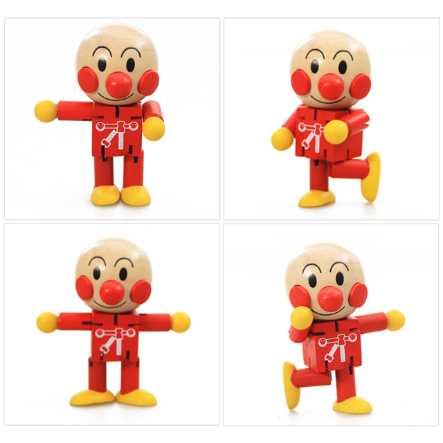 Cute Brave Anpanman Puppet Cartoon Doll – Baby Children Educational Wooden Toy