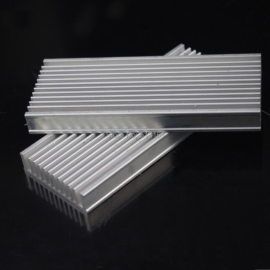 Купить с кэшбэком 10pcs/lot 120x50x12mm Aluminum Heat Sink Radiator Heatsink for IC LED Electronic Heat Dissipation