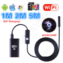 Eyoyo 6LED HD 720P 1M / 2M / 5M WiFi Endoscope Waterproof Inspection Camera for ios and Android PC