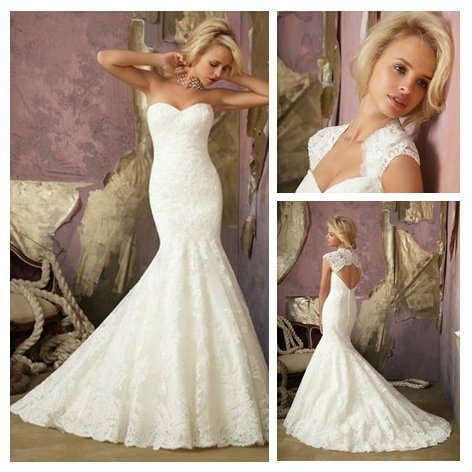 Free shipping free shippingivory lace mermaid style for Backless mermaid style wedding dresses
