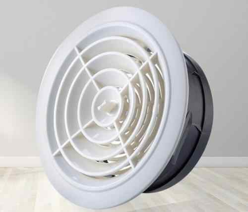 Adjustable Ceiling Air Extract Valve Round Diffuser Duct Cover Air Vent  Grille