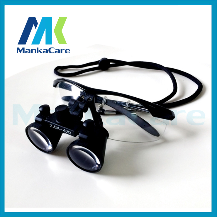 2.5X time Dental Surgical Binocular Loupes Magnifier Glasses 100% original surgical optical glass Black color Shipping Free цены