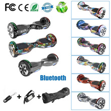 6,5 'Ховерборда 2 колеса электрический скутер Bluetooth Динамик светодио дный балансируя Электрический скейтборд с дистанционным управлением ЕС Plug