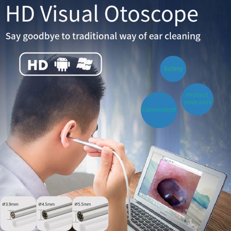 GroßZüGig Hd Ohr Reinigung Inspektion Endoskop Endoskop Visuelle Otoskop Kamera 3,9-5,5mm Angenehme SüßE Werkzeuge
