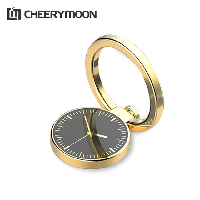 Cheerymoon часы серии держатель Универсальный мобильный телефон кольцо IRE настольная подставка Металл палец сцепление для iphone Samsung Huawei кронштейн