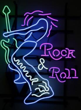 Rock & Roll Glass Neon Light Sign Beer Bar