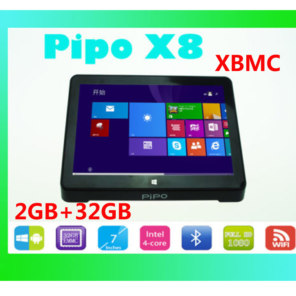 buy 2gb 32gb windows 10 android 4 4 dual os 7 inch screen pipo x8 mini pc tablet computer z3736f. Black Bedroom Furniture Sets. Home Design Ideas