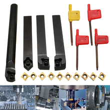 10pcs CCMT09T304 Carbide Insert+4pcs Lathe Turning Tool Holder Set+4pcs Wrench for Lathe Turning Tool Machine Tool Sets cheap NONE CN(Origin) other Hard Alloy