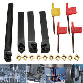 10pcs CCMT09T304 Carbide Insert+4pcs Lathe Turning Tool Holder Set+4pcs Wrench for Lathe Turning Tool Machine Tool Sets - DISCOUNT ITEM  50 OFF Tools