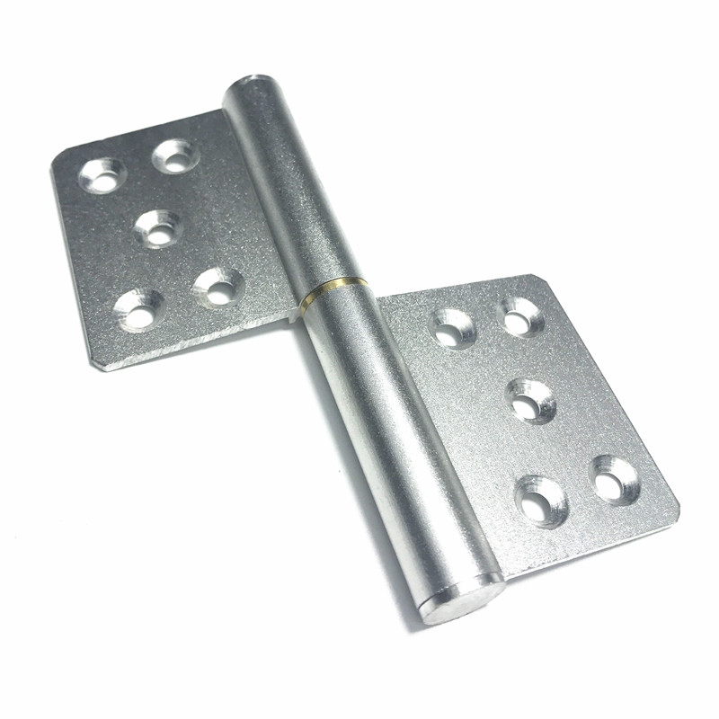 Aluminum Alloy Flag Type Detachable Hinge Titanium Magnesium Gate Hinges Removable 121mm Long 2.5mm Thickness 4pcs image