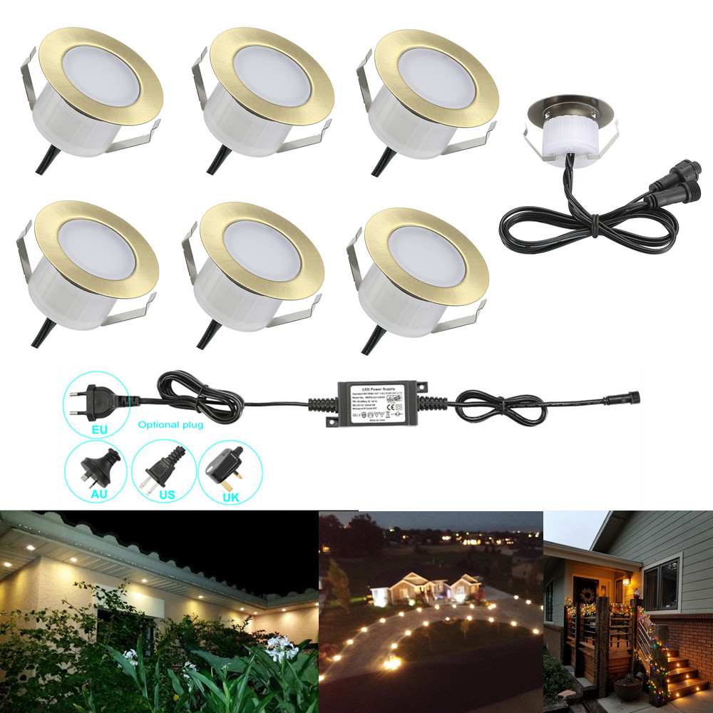 Led Underground Lamps Led Lamps 100% True 6pcs/lot 47mm Brass Warm White Outdoor Garden Yard Terrace Kickboard Recessed Kitchen Led Deck Rail Step Stair Soffit Lights To Ensure Smooth Transmission
