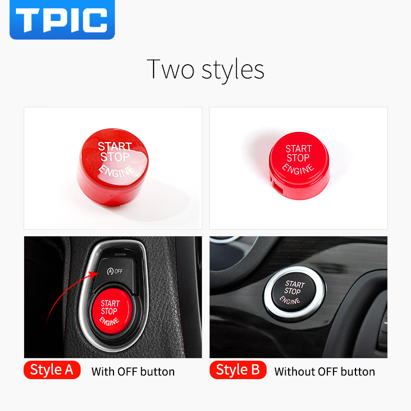 Car Engine Start Stop Button Red Color Replace Upgrade Styling For BMW F30 F10 F34 F15 F25 F48 X1 X3 X4 X5 X6 Accessories In Stickers From