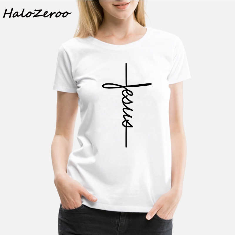 T Shirt Faith Women Short Sleeve O-neck Funny Summer Tops Loose Fit Women Clothing Christian Casual Tee Shirt Femme