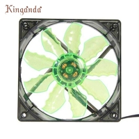 Good Sale Green 15 LED Light Quite 120mm DC 12V 4Pin PC Computer Case Cooling Cool