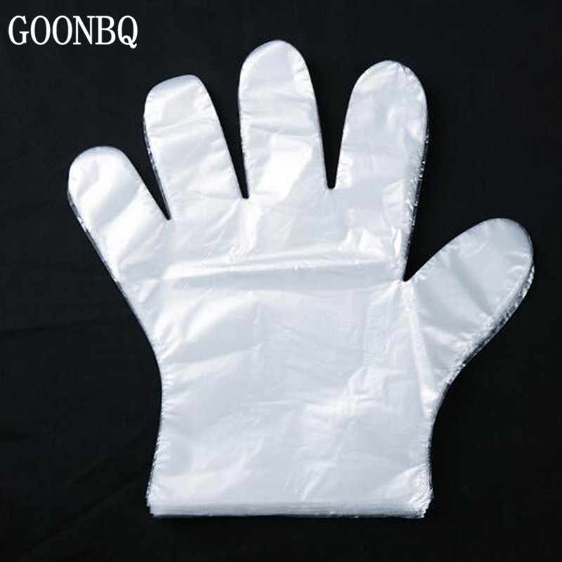GOONBQ100 pcs/set Food Plastic Gloves Eco-friendly Disposable Gloves For Restaurant Hotel BBQ Food Plastic Gloves Kitchen Gloves