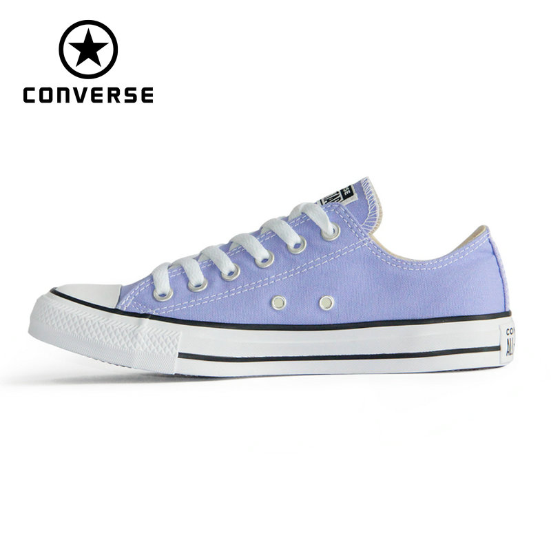 CONVERSE Chuck Taylor Original All Star shoes violet color men s and women s low sneakers