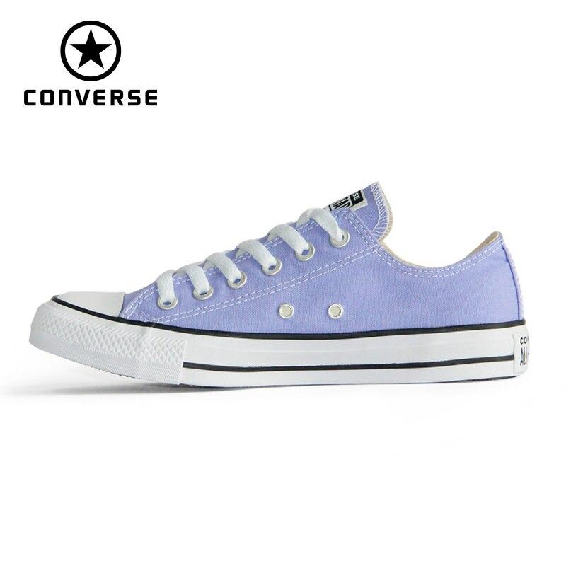 € 51.32 30% de DESCUENTO|Zapatillas de skateboard para hombre y mujer de color violeta todos los zapatos originales de las estrellas de Chuck