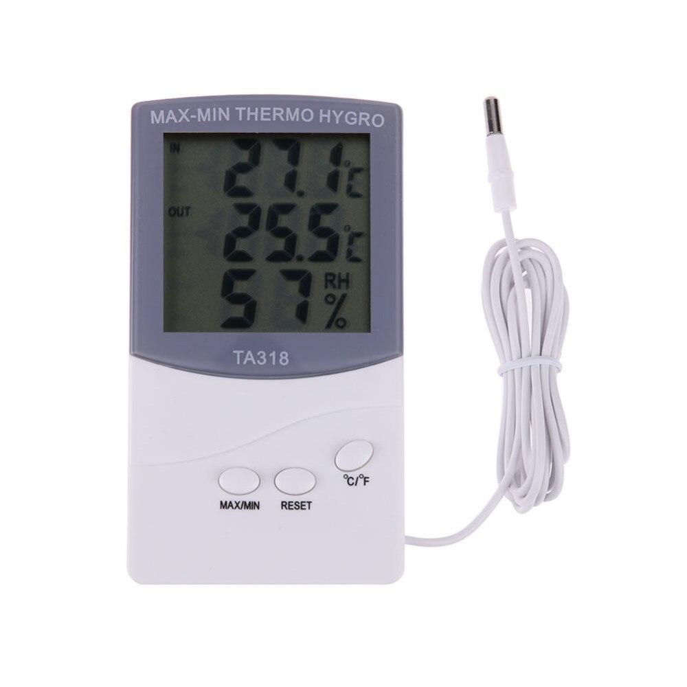 Intérieur Extérieur Thermomètre Hygromètre Numérique LCD Intérieur Extérieur 1.5 m Câble Sonde Température Hygromètre-50 à 70 C