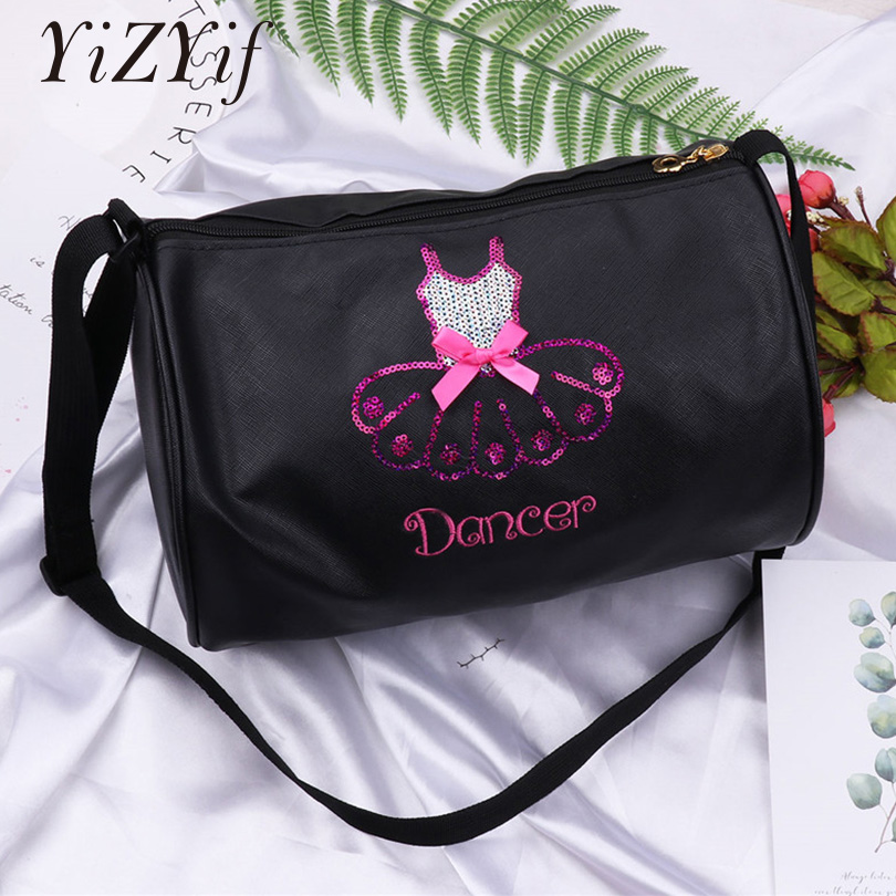 Girls Adorable Ballet Dance Bag Shiny Sequins Embroidered Dress Dancing Duffle Bag Hand Shoulder Bag Ballerina Bags gymnastics