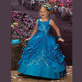 2016 Lovely Flower Girl Dresses Bolero Girls Pageant Dresses for Little Girls Crystal Beaded Kids Ball Gown Prom Dresses