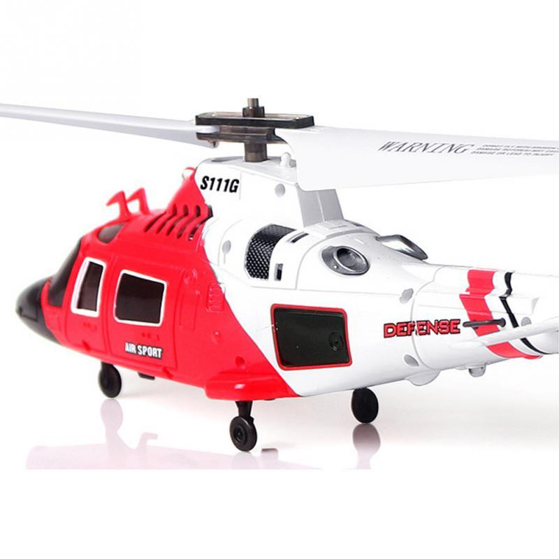Image 2 - 100% Original SYMA S111G Military RC Helicopter With Night Light Mini Drone Easy Control  Aircraft with Gyro Toys Gift Funny-in RC Helicopters from Toys & Hobbies