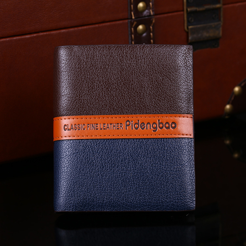 New PU Leather Brand Men Wallets Design Short Small Wallets Male Mens Purses Card Holder Carteras Free shipping