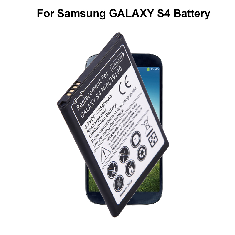 3.7V 2500mAh Mobile Phone Built-in Lithium Battery Replacement Battery For Samsung GALAXY S4 Mini i9195 i9190 i9192 B500