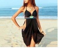 Woman Striped Rainbow Beach Swimsuit Bandage Patchwork Two Piece Bikinis Set Push Up Strappy Bathing Suit