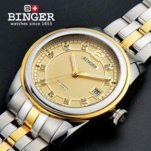2017 Suisse Montres BINGER 18 K or montres hommes de luxe top marque auto-vent automatique Montres B5010-3