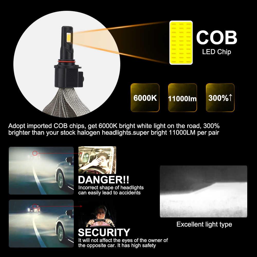 roadsun Car Light Led H4 H7 H3 H1 H11 H13 9005 9006 HB4 9004 9007 880 H27 LED Automobiles Bulb 6000K 12000LM Auto Headlight Kit