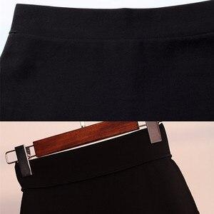 Image 5 - สาวใหม่สีดำความยืดหยุ่นสูงเอวกระโปรงเซ็กซี่ไม่สมมาตร Ruffles กระโปรงผู้หญิงแน่น Bias กระโปรง