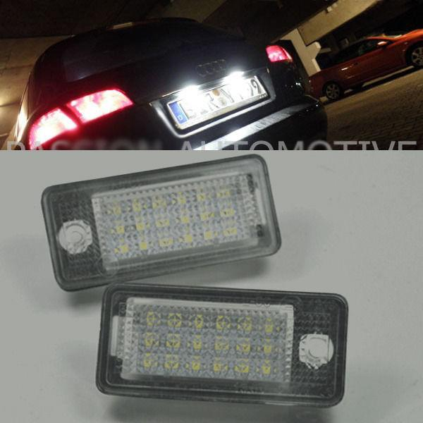 2x No Error <font><b>LED</b></font> SMD License number Plate Lights For AUDI A8 S8 D3 D4 4E/<font><b>4H</b></font> 04-13