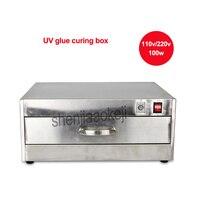 110v/220v 84 LED lamp beads UV glue curing box LED ultraviolet curing light box Stainless steel UV glue oven