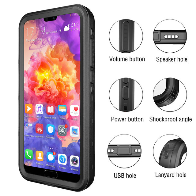 waterproof phone case huawei p20 pro