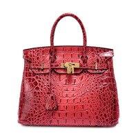 P117 Wholesale European And American Fashion Brand Ladies Bag Large Crocodile Grain Leather Handbag Cowhide Single