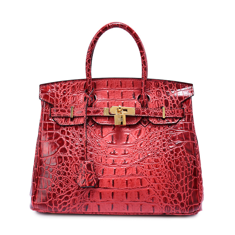 где купить P117 Wholesale European and American fashion Brand Ladies' Bag Large Crocodile Grain Leather Handbag Cowhide single shoulder bag по лучшей цене