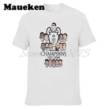 Men 2018 Cartoon Crossword Triple Crown Ronaldo Bale Real final 13 champions hala  Kroos Modric Zidane T-shirt W18052698 zidane