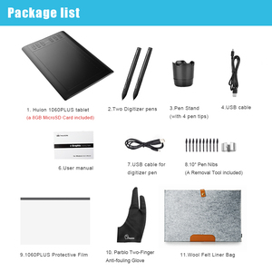 Image 5 - Huion新1060プラス職業描画タブレット8192レベルペン圧力タブレット