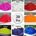 20 цветов 2 г каждого цвета DIY Изготовление воска для свечи Краска для свечи paintsscentified нетоксичный соевый свечной парафин пигментная краска дл...