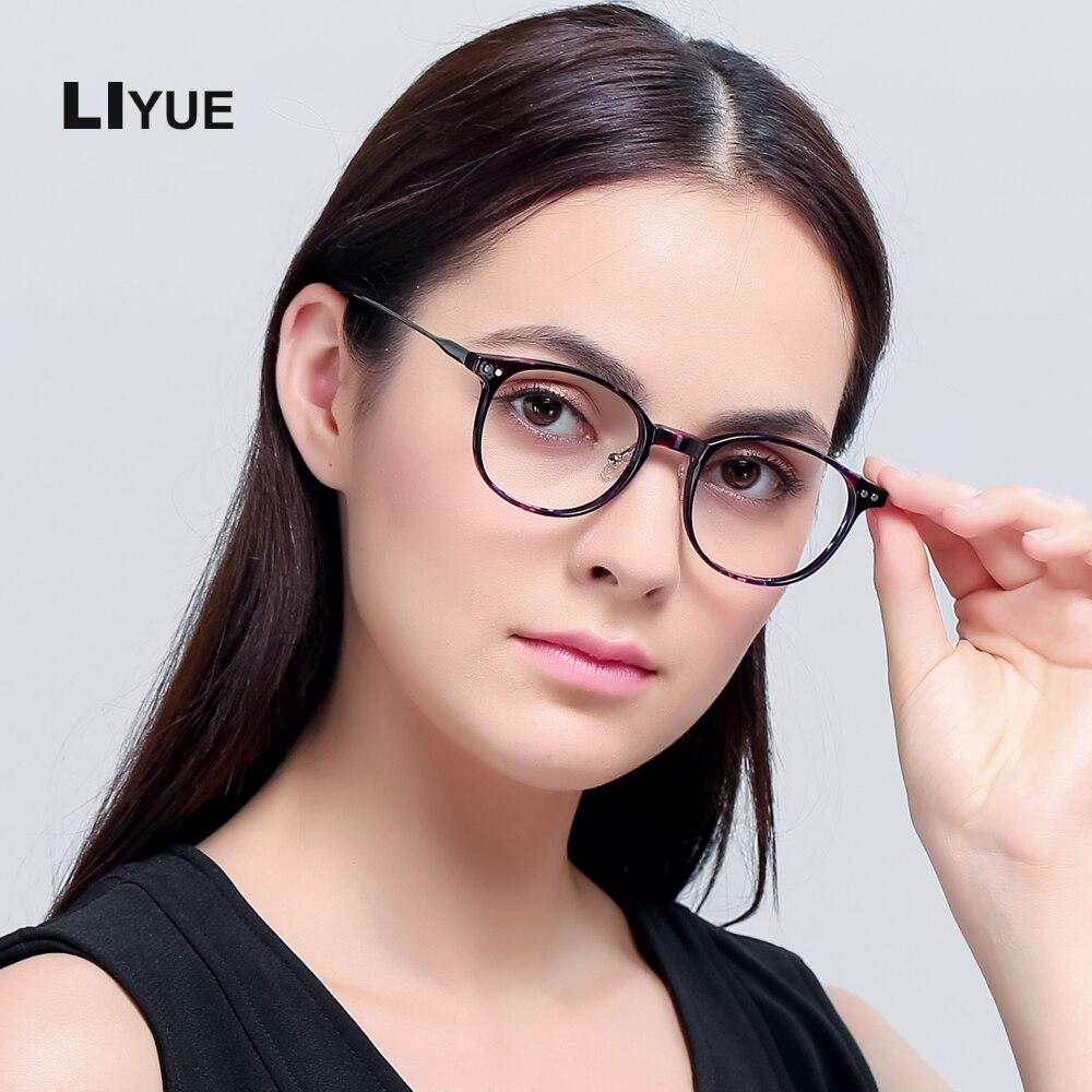 7fdccd173 Liyue الأزياء شفاف واضح نظارات إطار الرجال النظارات البصرية النساء نظارات  إطار جولة عالية الجودة النظارات الإطار
