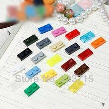 Darmowa wysyłka 3023 100 sztuk * płyta 1x2 * DIY podświetlane klocki typu cegły, kompatybilny z Lego montuje cząstek