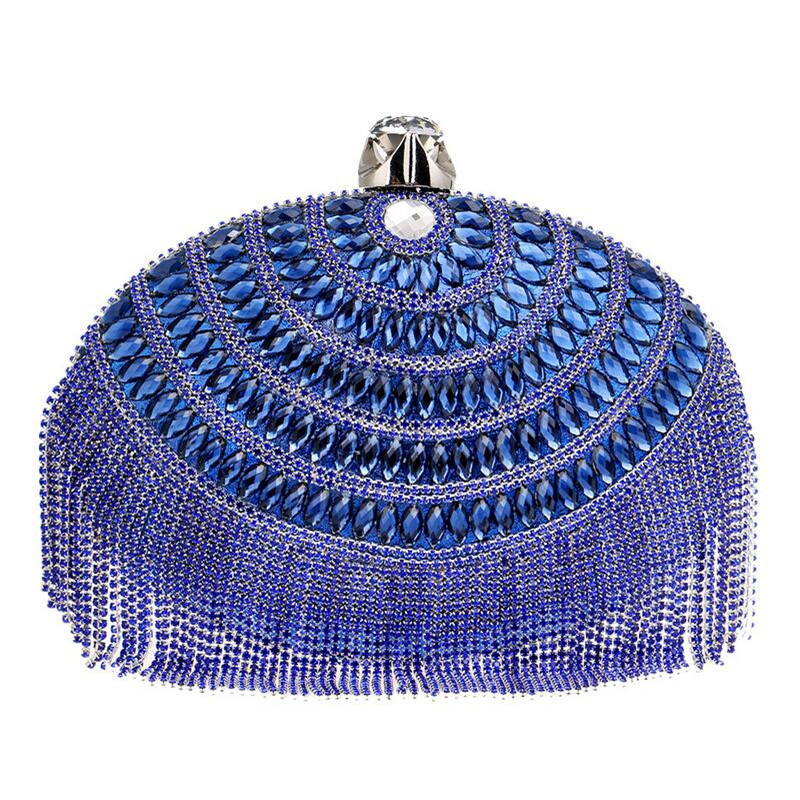 oval plata bolsos de embrague rojo mini embragues bolso de noche azul del parti