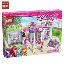 Enlighten 2006 485Pcs Friend Figures Princess Shirley's Beauty SPA Shop Model Building Kits Blocks Bricks Toys For Children Gift