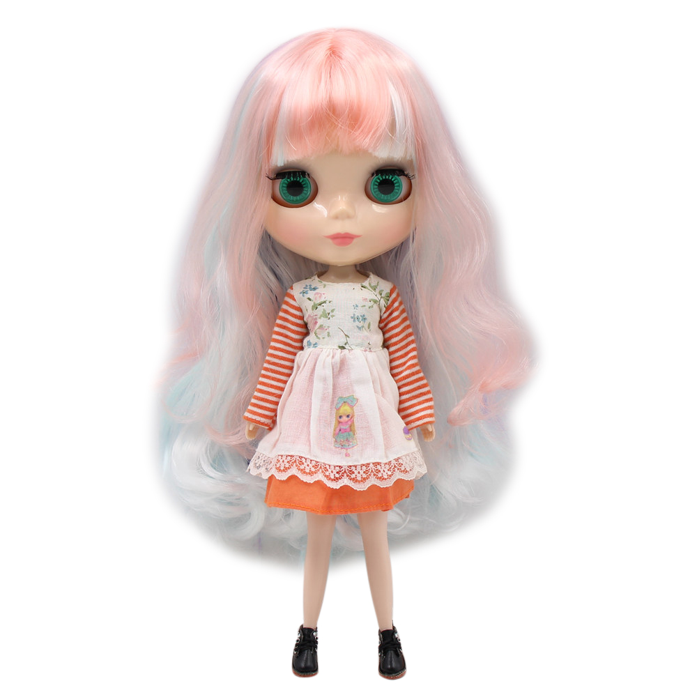 Blyth Doll Nude White Skin Dreamy purple long curly hair
