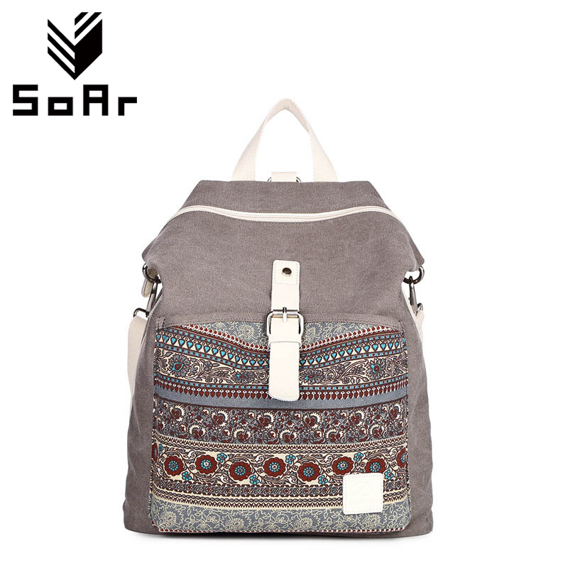 SoAr New Arrival Women Bag Canvas Backpack Fashion School Bag For Teenager High Quality Casual Backpacks Woman Famous Brands Hot весы напольные salter 9152